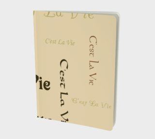Aperçu de Coffee C'est la Vie Large Notebook