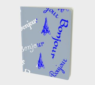 French Flag Bonjour Large Notebook preview