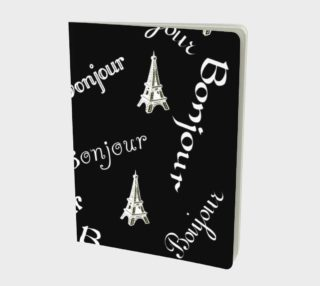 White Bonjour Large Notebook preview