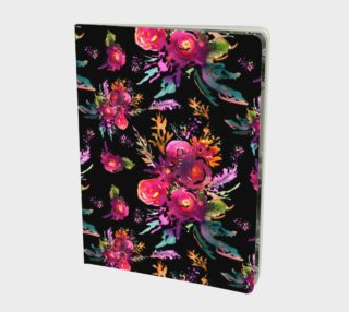 Carnet Happy roses black preview