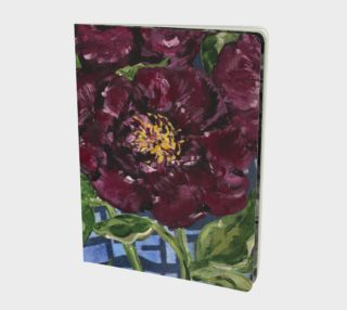 Peonies Under Glass Notebook preview