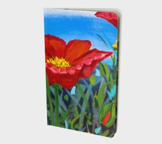 Big Red Floral Poppies Notebook preview
