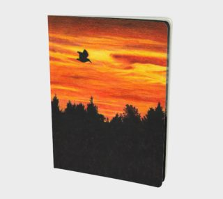Sunset with bird Large Notebook preview