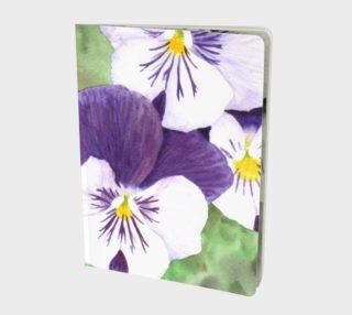 Purple and white pansies flowers Large Notebook aperçu
