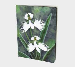 White egret orchids flowers Large Notebook preview