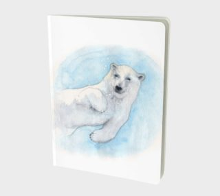 Polar bear underwater Large Notebook preview