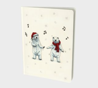 The polar bears wish you a Merry Christmas Large Notebook preview