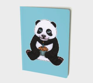 Baby panda's birthday Large Notebook preview