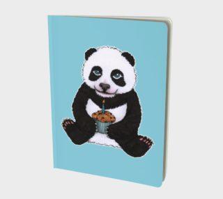 Baby panda's birthday Large Notebook aperçu