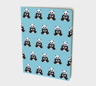 Baby panda's birthday pattern Large Notebook preview