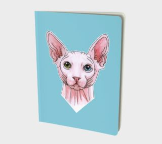 Sphynx cat portrait Large Notebook preview