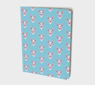 Sphynx cats pattern Large Notebook preview