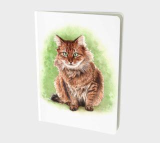 Somali cat Large Notebook aperçu