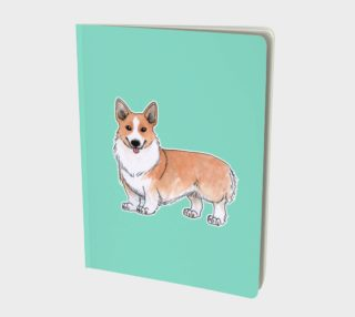 Welsh corgi dog Large Notebook aperçu