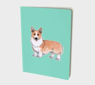 Aperçu de Welsh corgi dog Large Notebook