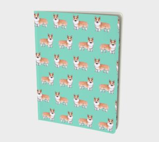 Welsh corgi dogs pattern Large Notebook preview