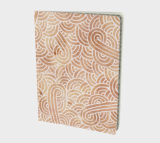 Iced coffee and white swirls doodles Large Notebook preview