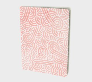 Rose quartz and white swirls doodles Large Notebook preview