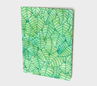 Green foliage Large Notebook preview
