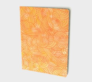 Yellow and orange swirls doodles Large Notebook preview