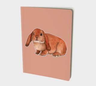 Red rabbit ram Large Notebook preview