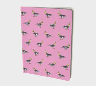 Cockateel birds pattern Large Notebook aperçu