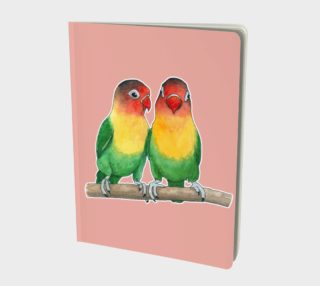 Fischer's lovebirds Large Notebook preview