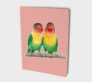 Fischer's lovebirds Large Notebook aperçu