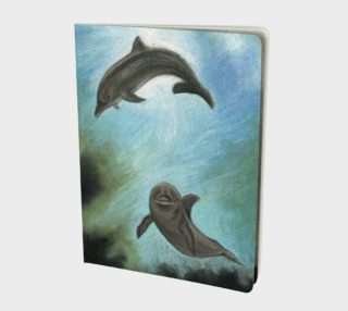 Dolphins underwater Large Notebook preview
