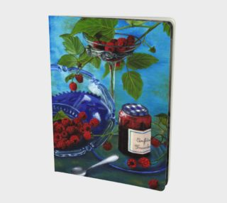 Still life with raspberries Large Notebook preview