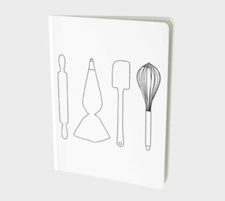 Aperçu de Baking Lover - White - Large Notebook