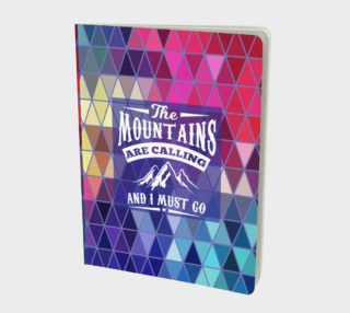 The Mountains are Calling and I Must Go - Geometric Triangle Prism Design Notebook preview