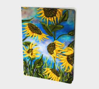 Vibrant Sunflowers Notebook L preview