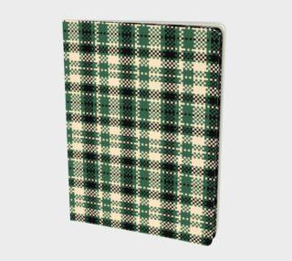 Aperçu de Digital Green & Cream Plaid Notebook