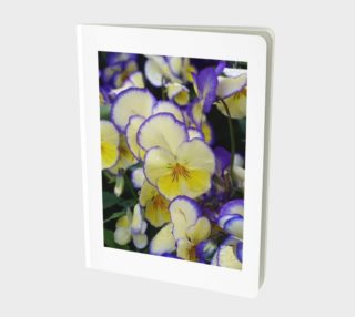 Yellow and Violet Pansies, Notebook preview