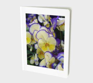Yellow and Violet Pansies, Notebook aperçu