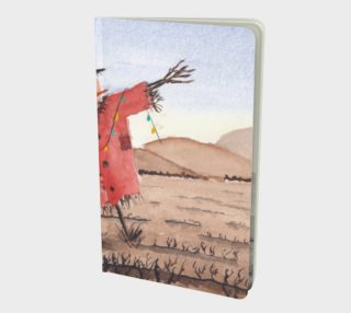 Christmas Scarecrow notebook small preview