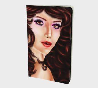 Female portrait with brown eyes and curly hair in digital art aperçu