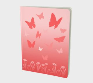 Pink Butterfly Notebooks - Adorable preview