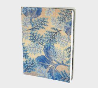 1950s Blue Ferns Fabric Replica Notebook preview