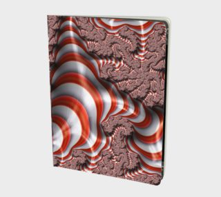 Candy Cane Fractal Notebook preview