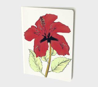 Halftone red hibiscus aperçu