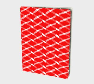 Red and White Chevron Cross Pattern preview