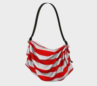 Mainz Carnival origami tote bag, Carnival bag,   Red and white striped tote bag,  Red and white striped carnival purse, Red and white striped accessories preview