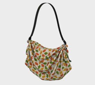 Fall ginkgo biloba leaves pattern Origami Tote preview