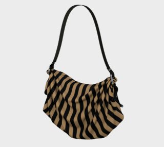 Aperçu de One Inch Black and Camel Brown Vertical Stripes
