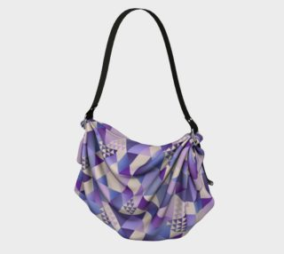 Purple, Lavender, Blue Triangles Geometric Abstract  preview