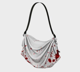 Blood Splatter First Cosplay Halloween Origami Tote Bag preview