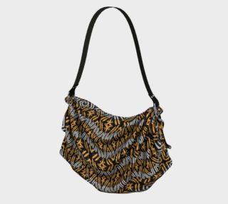 Modern Wavy Geometric Pattern Bag preview
