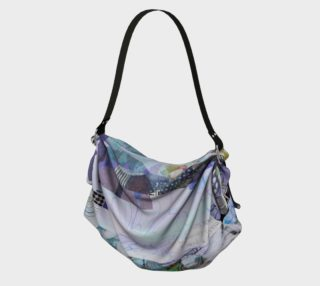Trailing Petals Muted Purple Origami Tote by Deloresart preview